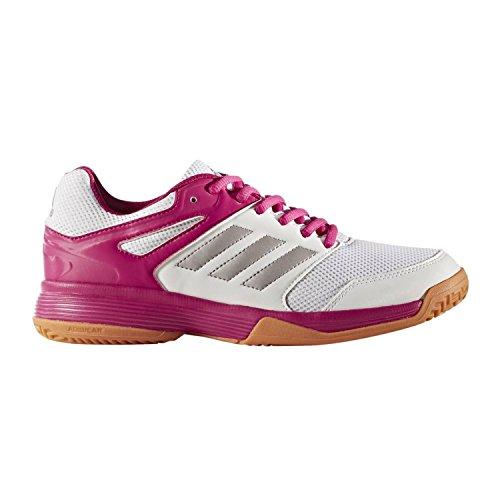 adidas Handballschuhe Speedcourt, Damen Handballschuhe, Mehrfarbig (Weiß/Silber/Pink 000), 40 EU (6.5 UK)