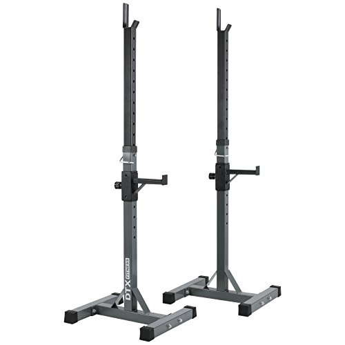 Dtx fitness - rack da squat - due pali con barre di sicurezza