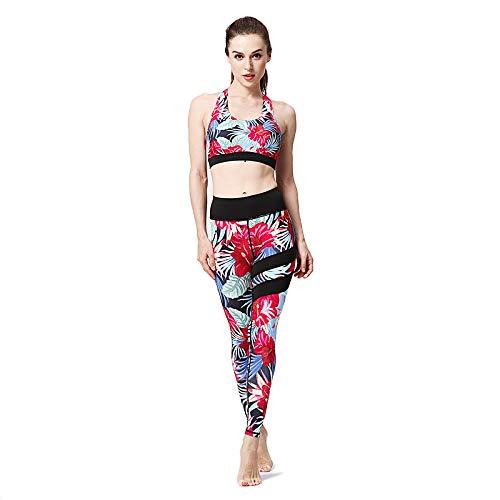 ZCXCC Zweikomponentenanzug Der Yoga-Kleidung Weiblicher Eignung Die Schnell Trocknende Sport-BH-Strumpfhosen Läuft Die Eignungshose Laufen,I-M