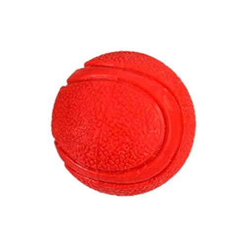 CAOQAO Dog Ball - Robustes Gummispielzeug, unzerstörbarer Dog Ball - Spielzeug für große und kleine Naturkautschukhunde - Solid Dog Ball - S/M/L - Rot