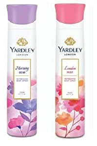 Yardley London Deodorant For Women Morning Dew and Mist Combo Pack 2 (150 ml)