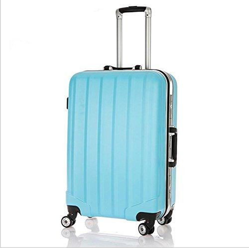 Xiuxiandianju Ruota universale leva ABS chiusura fibbia usura impermeabile per il tempo libero viaggio valigia da 20 pollici a 24 pollici diversi SuitcaseColour & dimensione Blue