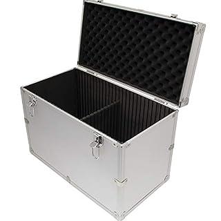 Aluminium Flight Case Silver DJ Tool Box 450x310x240mm Internal Divider