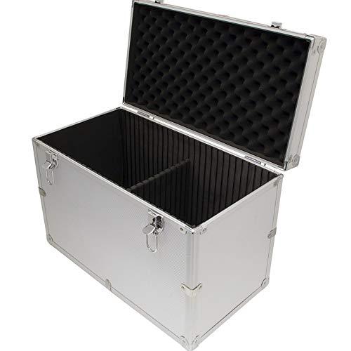 Aluminium Flight Case Silver DJ Tool Box 450x310x240mm Internal Divider by Cases and Enclosures