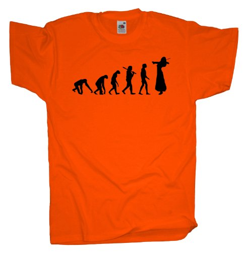 Ma2ca - Evolution - Violinistin T-Shirt Orange