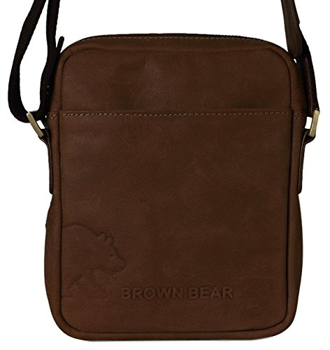 Brown Bear Messenger Bag klein Leder vintage braun Danny