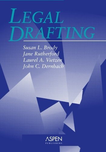 Legal Drafting (Coursebook) by Jane Rutherford (1994-06-01)