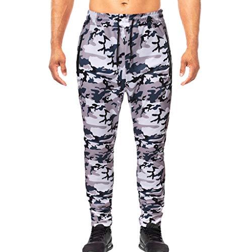 WQIANGHZI Herren Unterwäsche Hose Print Atmungsaktiv Sport Leggings Lange Unter Hosen Cargo Hose Camouflage Pants Freizeithose (Unter Fleece-hose)