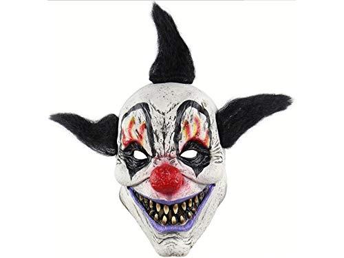 kxrzu Latex Wizard Kopfbedeckung Scary Tricky Maske Horror Ghost Party Maske für Halloween ()