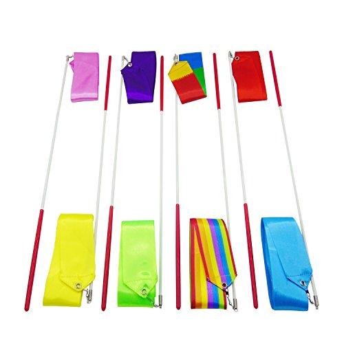 gersun 8Rhythmische Gymnastik Bänder Dance Band Dance Luftschlangen mit (Supplies Party Gymnastik)