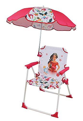 Unbekannt Fun House 712827Stuhl mit Sonnenschirm für Kinder Mädchen, Weiß (Camping-stuhl Sonnenschirm)