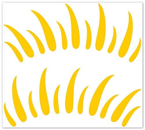 wandfabrik - Autoaufkleber - 2 tolle Wimpern (W1) in gelb (Jugend-fußball-uhr)