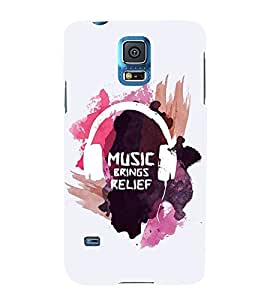 FUSON Music Brings Relief 3D Hard Polycarbonate Designer Back Case Cover for Samsung Galaxy S5 Neo :: Samsung Galaxy S5 Neo G903F :: Samsung Galaxy S5 Neo G903W