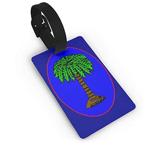 JKOVE Kofferanhänger,Popular Luggage Tags South Carolina Jan Flag Sichere Gepäckanhänger Reise Koffer Baggage Handtasche Tag Etikettenings -