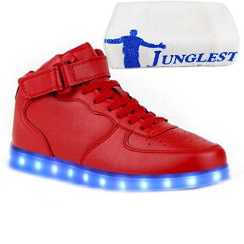 Aufladen Sportsc Hohe Weiß Usb present Damen Partyschuhe Sneaker C23 Leuchtend Handtuch junglest Led kleines Fasching wcSZO8a