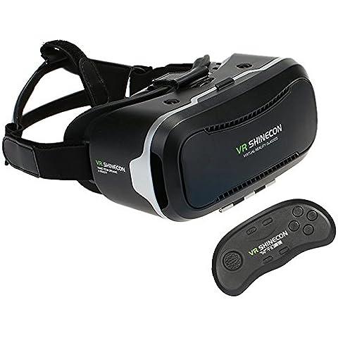 docooler VR 2,0 SHINECON Gafas de Realidad Virtual Auriculares VR 3D Box 3D Juego de la Película w / SH-B01 Inalámbrica Bluetooth 3.0 VR Remoto Universal Control Gamepad Teléfonos