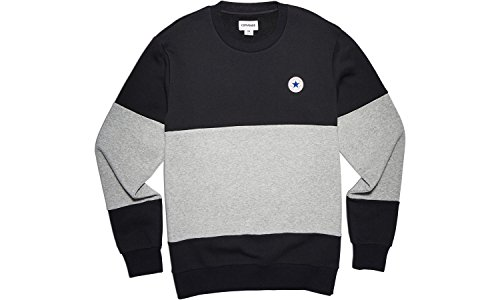 Converse Sweatshirts - Converse Core Colour block Crew Sweatshirt - Black / Vgh (Colorblock Crewneck Pullover)