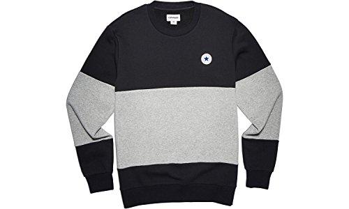 Converse Sweatshirts - Converse Core Colour block Crew Sweatshirt - Black / Vgh (Crewneck Pullover Colorblock)