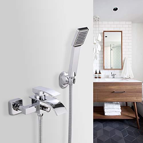 BONADE Badewannenarmatur Duschsysteme Chrom Badewanne Duschamarturen Regendusche Badezimmer Duschgarnituren Kupfer Brausegarnitur mit Handbrause und Wasserhahn