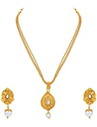 Sukkhi Jewellery Collection Pendant for Women (Golden) (4491PSGLDPP500)