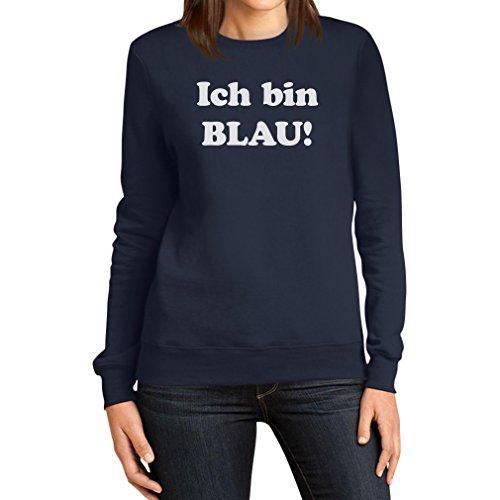es Motiv Karneval JGA Party Frauen Sweatshirt XX-Large Marineblau (Billig Kostüm Ideen Männer)