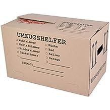 Buri Umzugskarton Bedruckt 59x34x35cm Traglast Bis 30kg Aufbewahrung Kiste Spedition