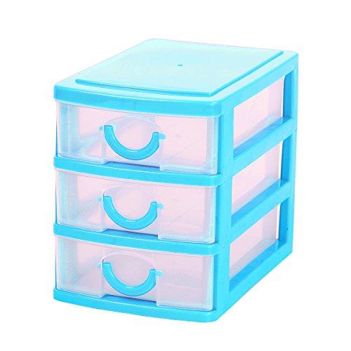 Cadillaps 3 Cassetto Conservazione Organizzatore Mini Unità Desk Organizer casella di visualizzazione