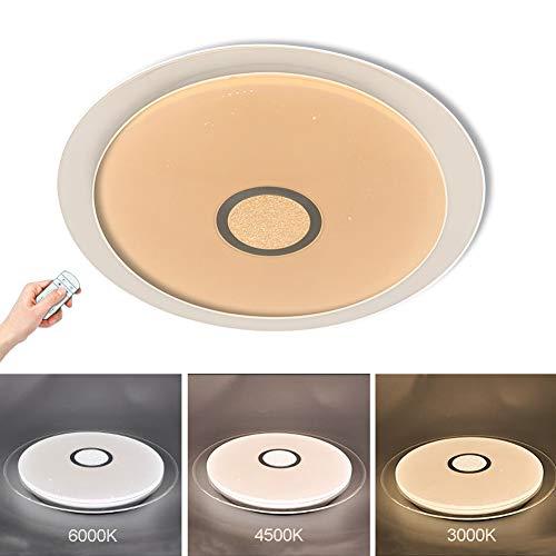 Addison Rund LED Deckenleuchte Dimmbar Fernbedienung, 18W 1550lm, 2700K-6500K, Moderne Deckenlampe Wohnzimmerlampe, Deckenbeleuchtung Wandleuchte für Wohnzimmer Schlafzimmer Küche Flur Lampe Ø42CM -