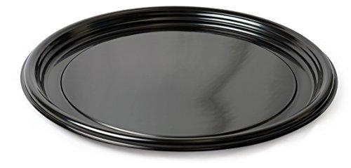 Platte Pleasers 7610tf rund Vintage THERMOFORM Serviertablett, 40,6cm, Schwarz