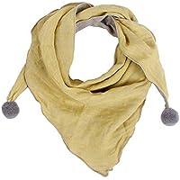 Doitsa 1pcs Kinderschal Einfarbiges Dreieck Basic Schal Tuch Damen Schal Rundschal Halstücher Unisex 60-80cm (Gelb)