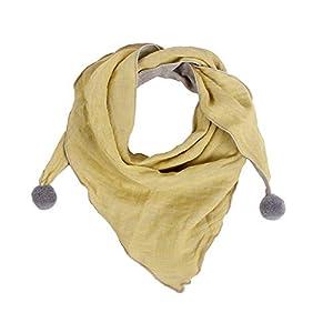 JUNGEN Bufanda para Bebé Niños Niñas, Bufanda Triangular de Algodón Suave Caliente Bufandas de Cuello para Otoño Invierno 6