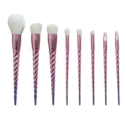 8 Pcs de Maquillage Brosse Ensembles Costume Gourd Poignée Nylon Cheveux Beauté Maquillage Outils sans Paquet de Brosse , b