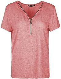f4db71c4aa7f2a Emma & Giovanni - T-Shirt Maglietta di Base per L'Estate - Donna