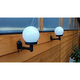Ardisle 4X SOLAR GARDEN DOME FENCE SHED WALL LIGHTS POWER POWERED GLOBE 2 IN 1 BALL LAMP
