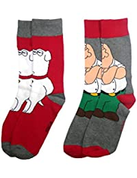 **Great Value** Mens 2pk Cartoon Character Socks OUTSIZE 12-16 FOOT