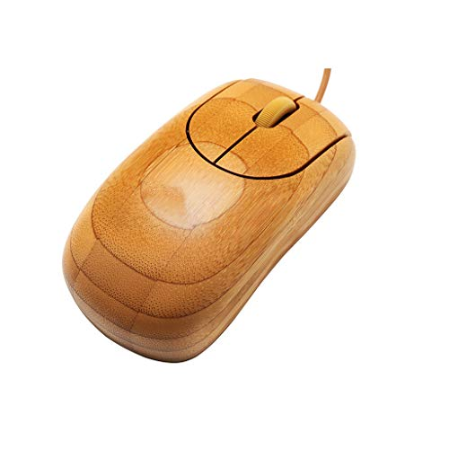 Neuestes!!Bambus Optisch Maus,Bloodfin Ökologischer Umweltschutz Anti Strahlung Silent Schnurlos Funkmaus Gaming Maus Funk Maus Optical Mäuse Für PC Laptop, Office, Home (Khaki)
