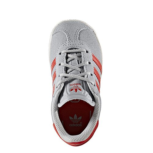 Adidas Gazelle 2 Cf I Scarpe Sportive, Unisex Bambino Clear Onix Red