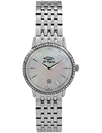 Rotary Women's Quartz Watch with Mother of Pearl Dial Analogue Display and Silver Stainless Steel Bracelet LB90050/41