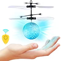 Price comparsion for SGILE RC Flying Ball - Infrared Induction Helicopter Built-in Shinning Crystal LED Lights, Kids Toy Smart Remote Contral Drone Magic Airplane, Gift Teenagers Boys Girls