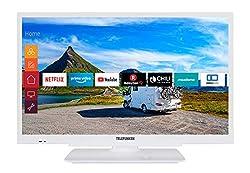 Telefunken XH24G501V-W 61 cm (24 Zoll) Fernseher (HD-ready, Triple Tuner, Smart TV, Prime Video, 12 Volt)