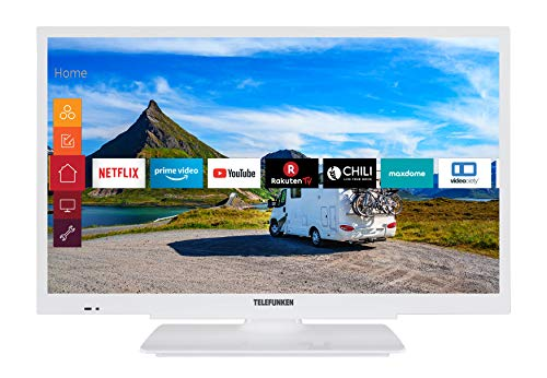 Telefunken XH24G501V-W 61 cm (24 Zoll) Fernseher (HD-ready, Triple Tuner, Smart TV, Prime Video, 12 Volt)