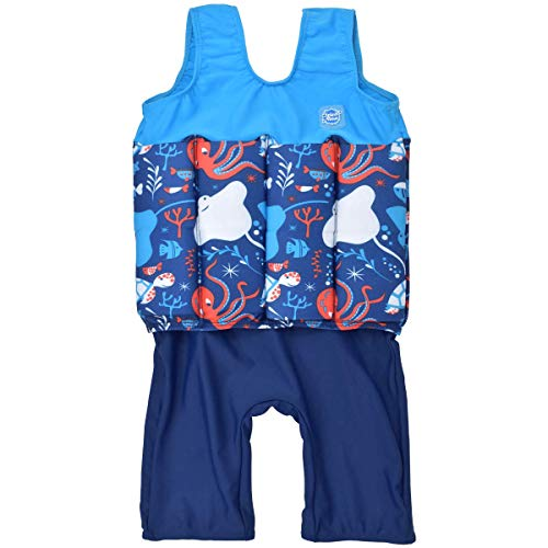 Splash About Children's Kids Short John Floatsuit with Adjustable Buoyancy Float Suit, Under The Sea, 2-4 Years