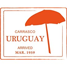 Uruguay Carrasco Umbrella Travel Stamp De Haute Qualite Pare-Chocs Automobiles Autocollant 12 x 10 cm