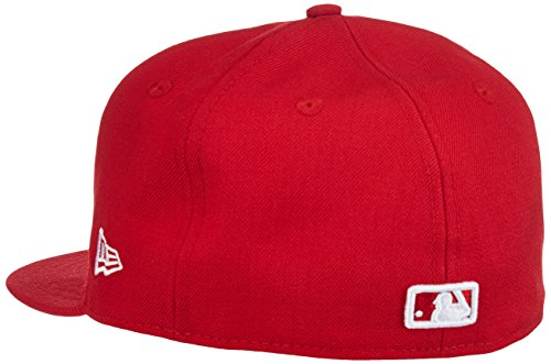 New Era Erwachsene Baseball Cap Mütze MLB Basic NY Yankees 59 Fifty Fitted Scarlet/White