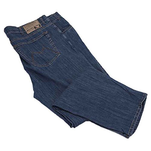 Pantalone jeans taglie forti uomo maxfort 2291 sw stretch - blu, 74 girovita 148 cm