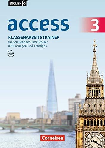 English G Access - Allgemeine Ausgabe: English G Access Baden-Württemberg Band 3: 7. Schuljahr Klassenarbeitstrainer avec Audios online, Lösungen und Lerntipps