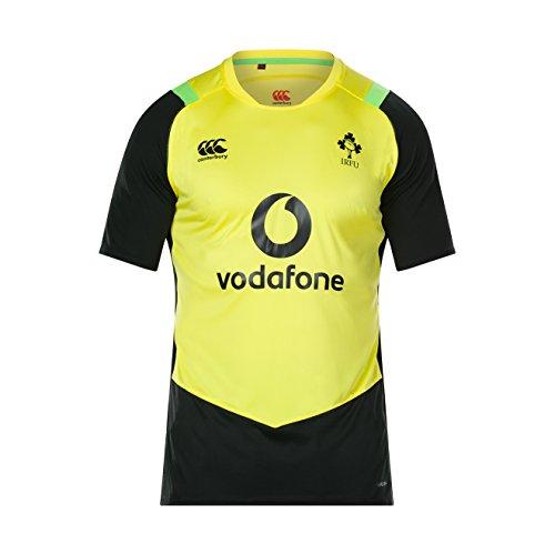 Canterbury Herren Offizielles Irland Rugby 17/18 Vapodri+ Super Licht Trainings T-Shirt, Leuchtgelb, 2XL