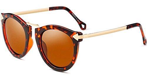 ATTCL Damen Vintage Mode Polarisiert Sonnenbrille Damen 11189 Leopard