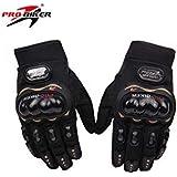 Probiker FM-Gloves Bike Full Finger Gloves (Black, Extra Large)