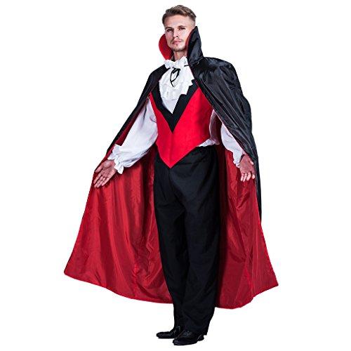 EraSpooky Männer Halloween Gothic Vampir GRAF Dracula (Zombie Kostüm Leicht)